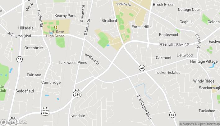 Mapa de 621 SE Greenville Blvd en Greenville