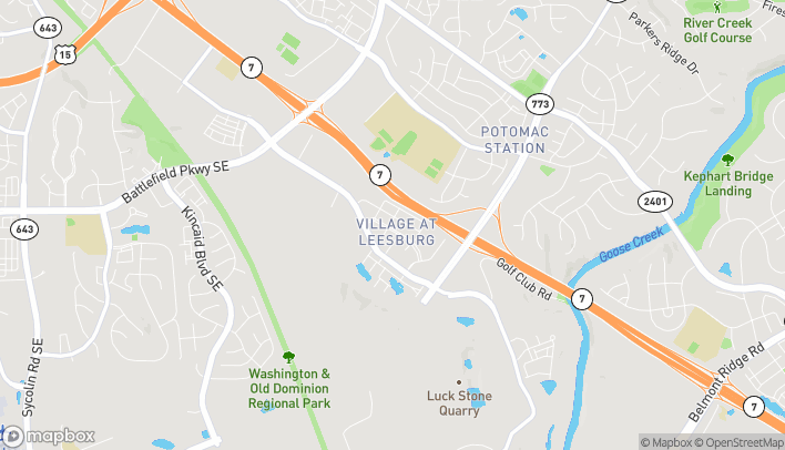 Map of 1604 Village Mkt Blvd SE in Leesburg