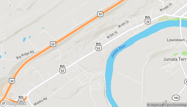 Map of 10500 US Hwy 522S in Lewistown