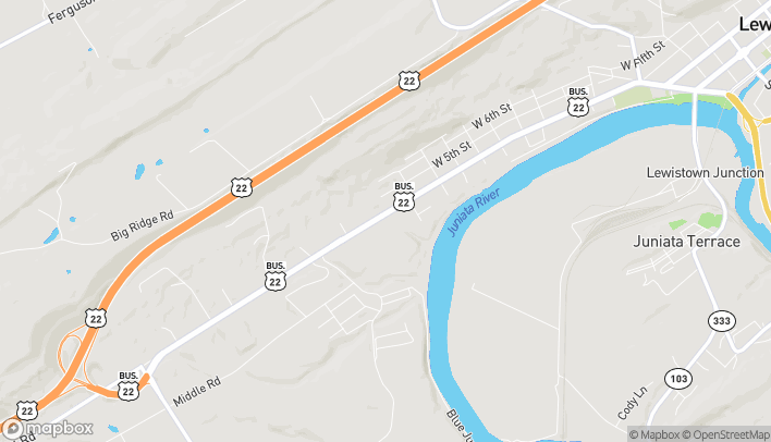 Map of 10500 US Hwy 522 S in Lewistown