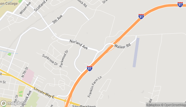 Map of 982 Norland Ave in Chambersburg
