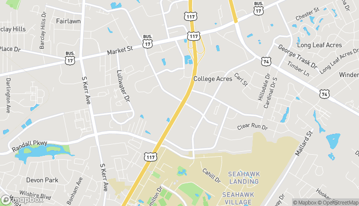 Map of 314 South College Road in Wilmington