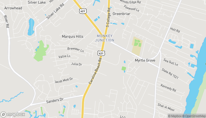 Map of 5621 Carolina Beach Rd in Wilmington