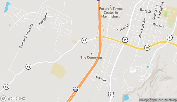Map of 245 Retail Commons Parkway in Martinsburg