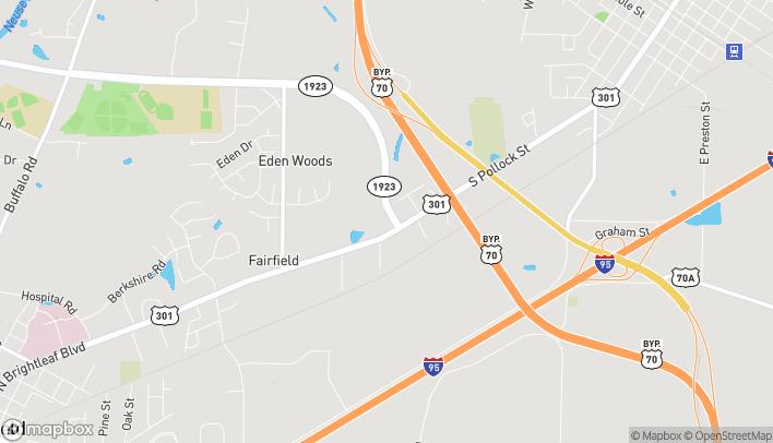 Mapa de 1321 N Brightleaf Blvd en Smithfield