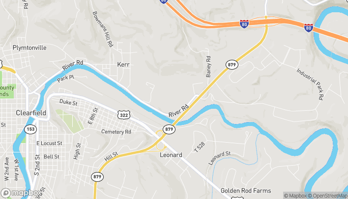 Map of 184 Plaza Dr in Clearfield