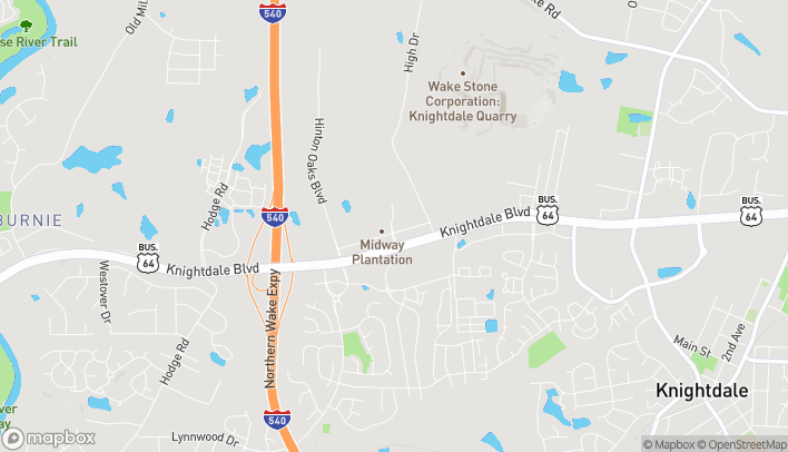 Map of 1018 Shoppes at Midway Dr in Knightdale