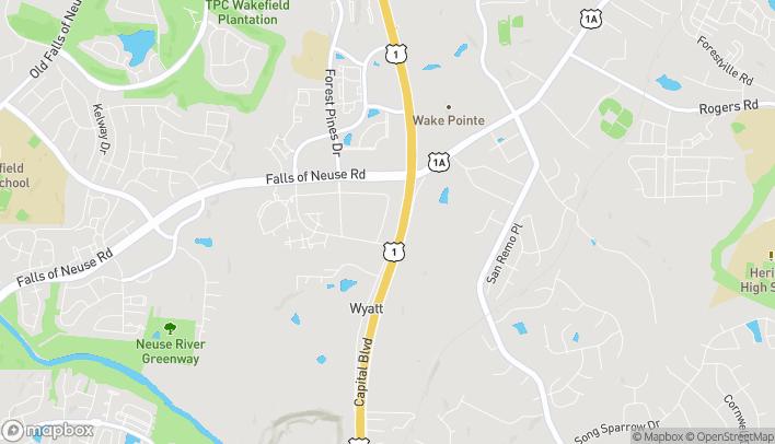 Mapa de 10760 Wakefield Commons Drive en Raleigh