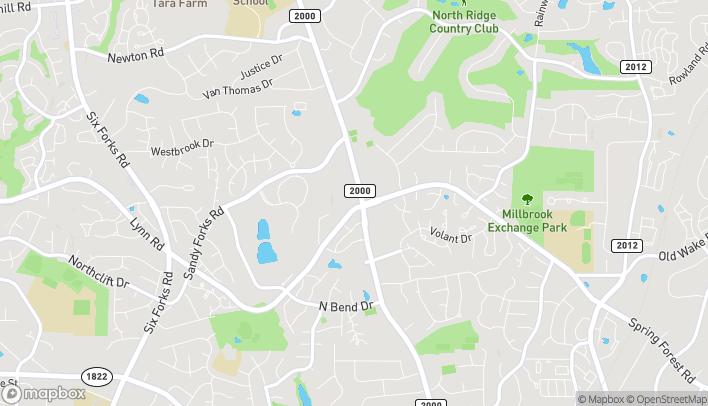 Mapa de 6301 Falls Of Neuse Rd en Raleigh