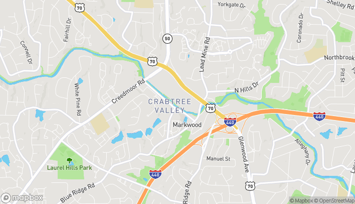 Map of 4325 Glenwood Ave in Raleigh