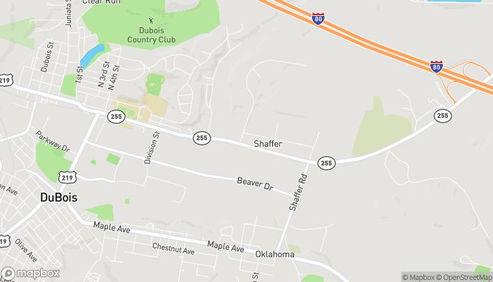Map of 907 E Dubois Ave in Du Bois