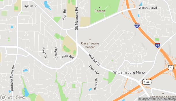 Map of 1117 Walnut Street in Cary