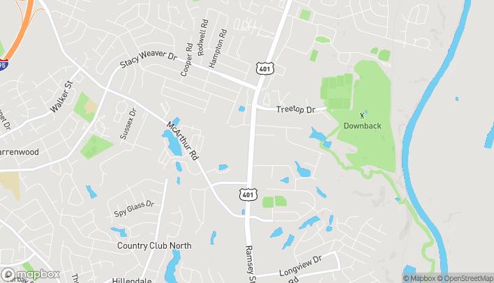 Map of 4621 Ramsey Rd in Fayetteville