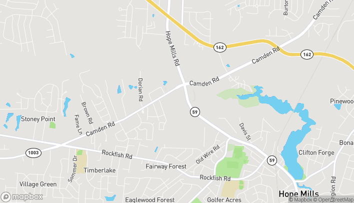 Map of 3020 North Main Street in Hope Mills