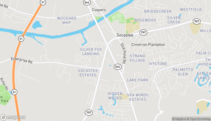 Map of 6009 Hwy. 707 in Myrtle Beach