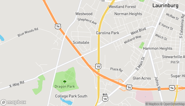 Map of 903 S 401 Bypass Highway in Laurinburg