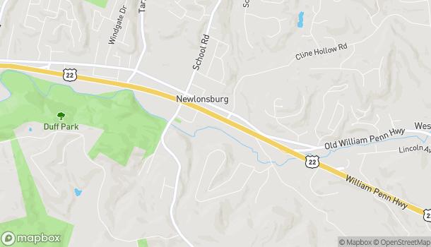 Map of 4877 William Penn Highway in Murrysville