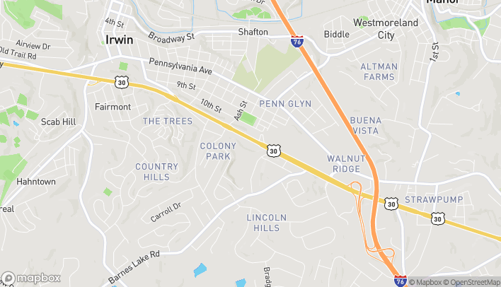 Map of 9100 Route 30 in Irwin