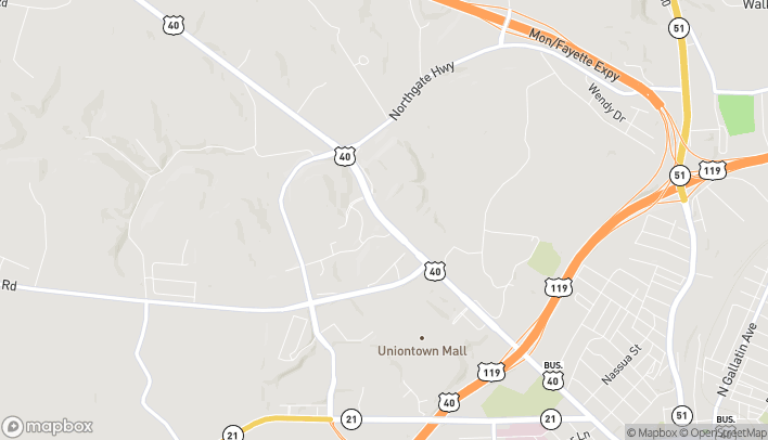 Map of 710 W Main Street in Uniontown