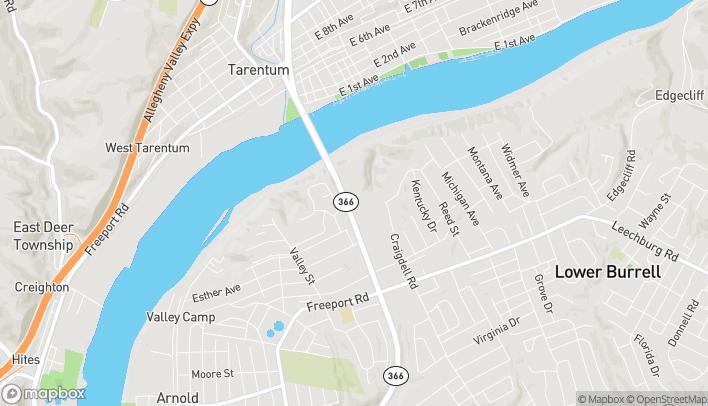 Map of 270 Tarentum Bridge Road in New Kensington
