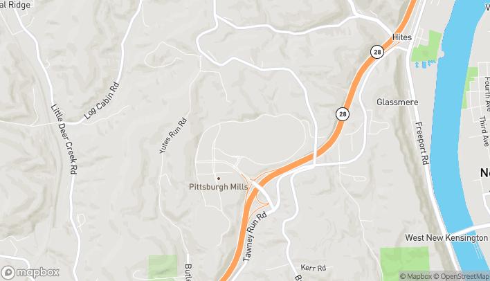 Map of 138 Pittsburgh Mills Cir in Tarentum