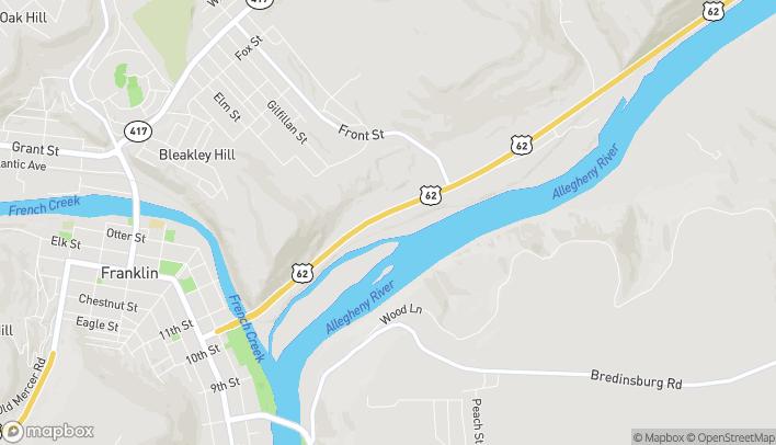 Map of 464 Allegheny Blvd in Franklin