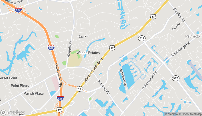 Map of 1700 Shoremeade Road in Mount Pleasant