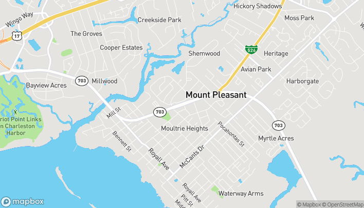 Map of 736 Coleman Blvd in Mount Pleasant