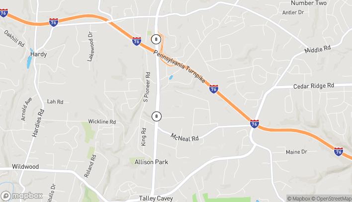 Map of 4960 William Flynn Hwy in Allison Park