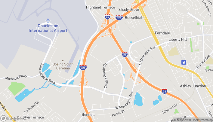 Map of 4940 Center Pointe Dr in North Charleston