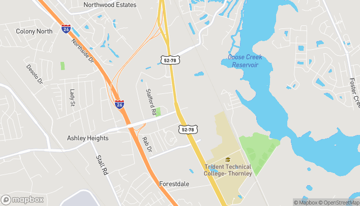 Map of 7460 Rivers Ave in Charleston