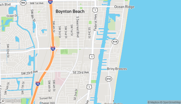Map of 566 East Woolbright Road in Boynton Beach