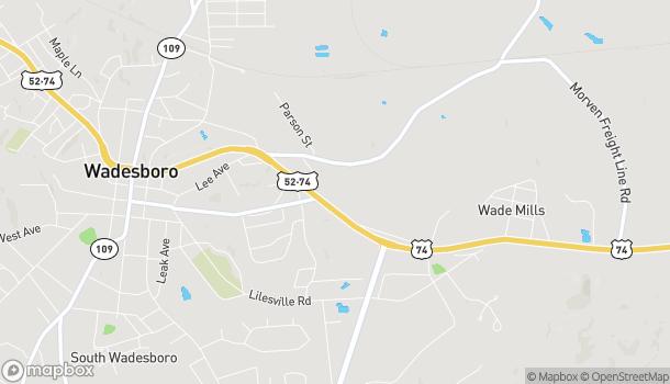 Map of 1009 E. Caswell Street in Wadesboro