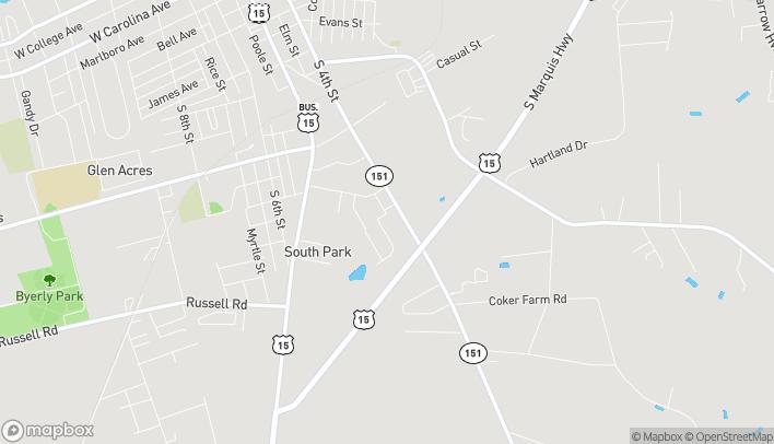 Map of 1209 Retail Row in Hartsville