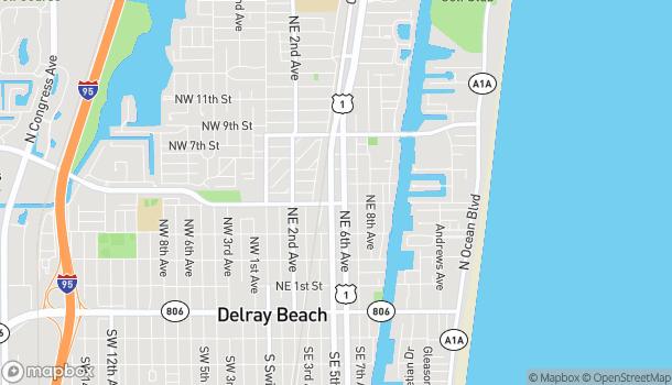 Mapa de 455 NE 5th Ave en Delray Beach