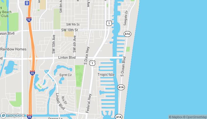 Mapa de 430 East Linton Blvd en Delray Beach