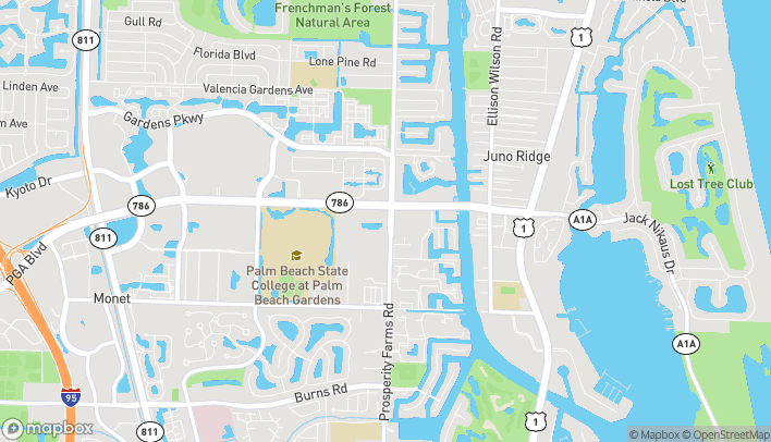 Map of 2510 Pga Blvd in Palm Beach Gardens