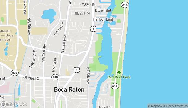 Map of 1956 NE 5th Ave in Boca Raton