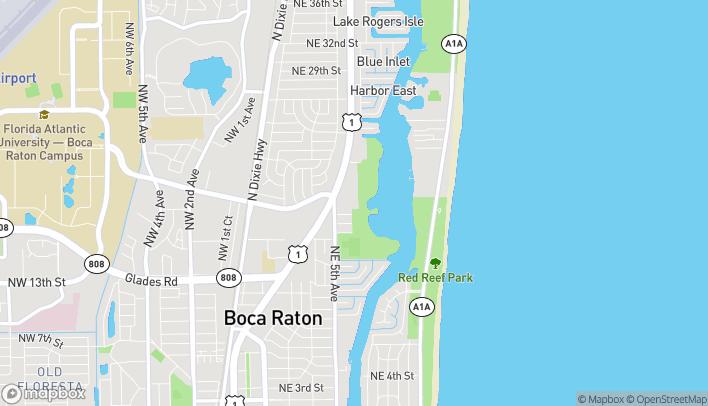 Mapa de 1956 NE 5th Ave en Boca Raton
