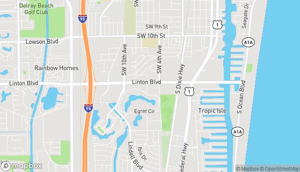 Mapa de 520 Linton Blvd en Delray Beach