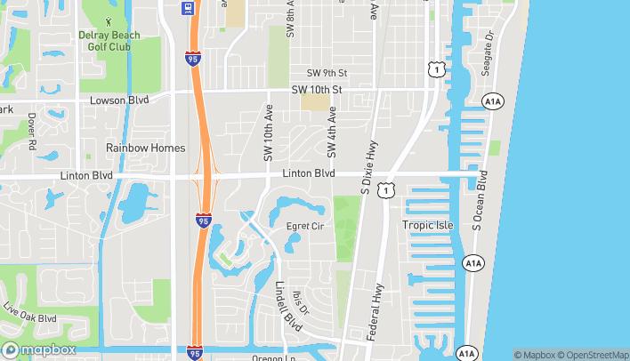 Map of 520 Linton Blvd in Delray Beach