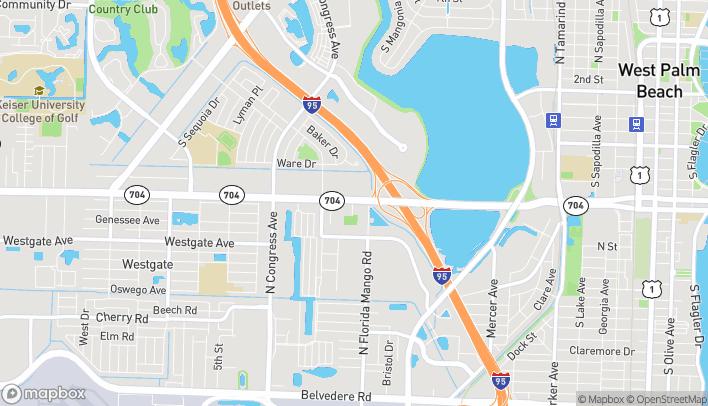 Mapa de 1862 Okeechobee Blvd en West Palm Beach