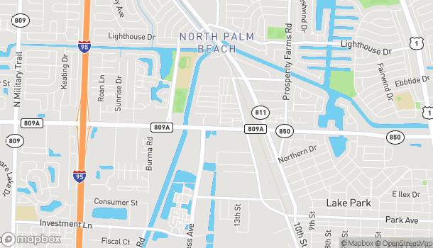 Map of 3005 Northlake Blvd in Palm Beach Gardens