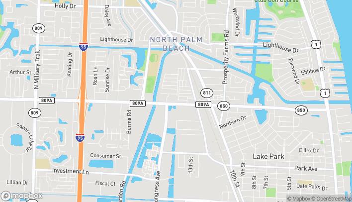 Mapa de 3005 Northlake Blvd en Palm Beach Gardens