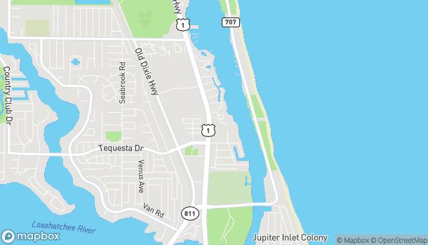 Mapa de 163 US-1 en Tequesta