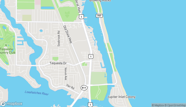 Map of 163 US-1 in Tequesta