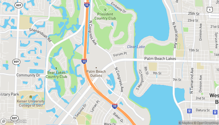 Map of 1703 Palm Beach Lakes Blvd in West Palm Beach