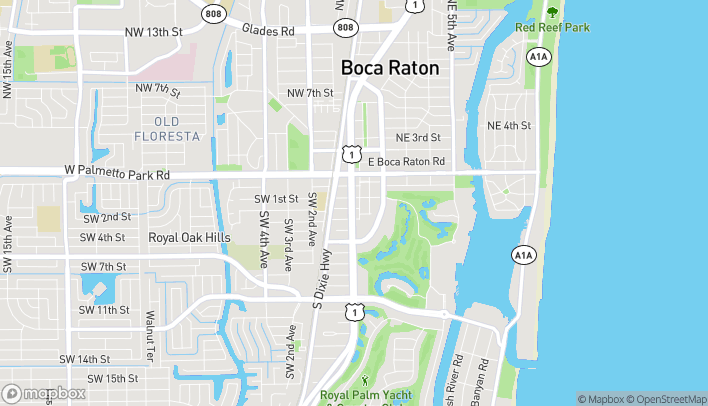 Map of 152 S Federal Hwy in Boca Raton