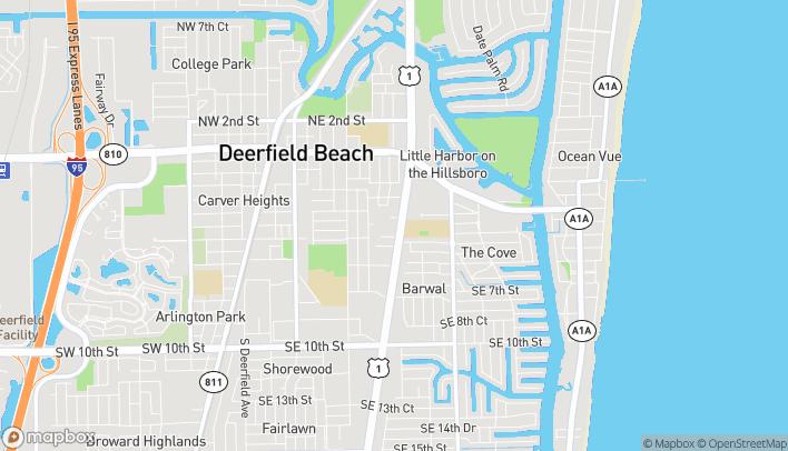Map of 411 South Federal Hwy in Deerfield Beach