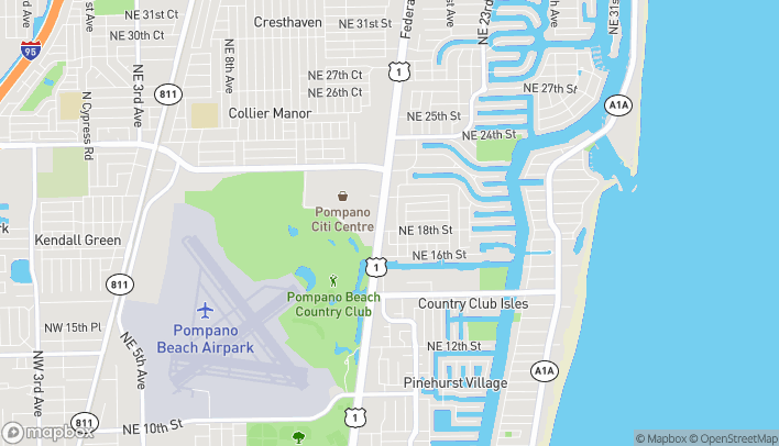 Map of 1800 North Federal Highway in Pompano Beach